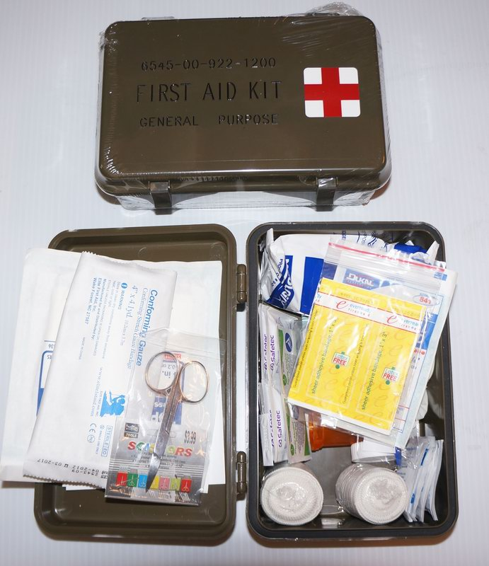 First Aid Kit Military Style Plastic Box