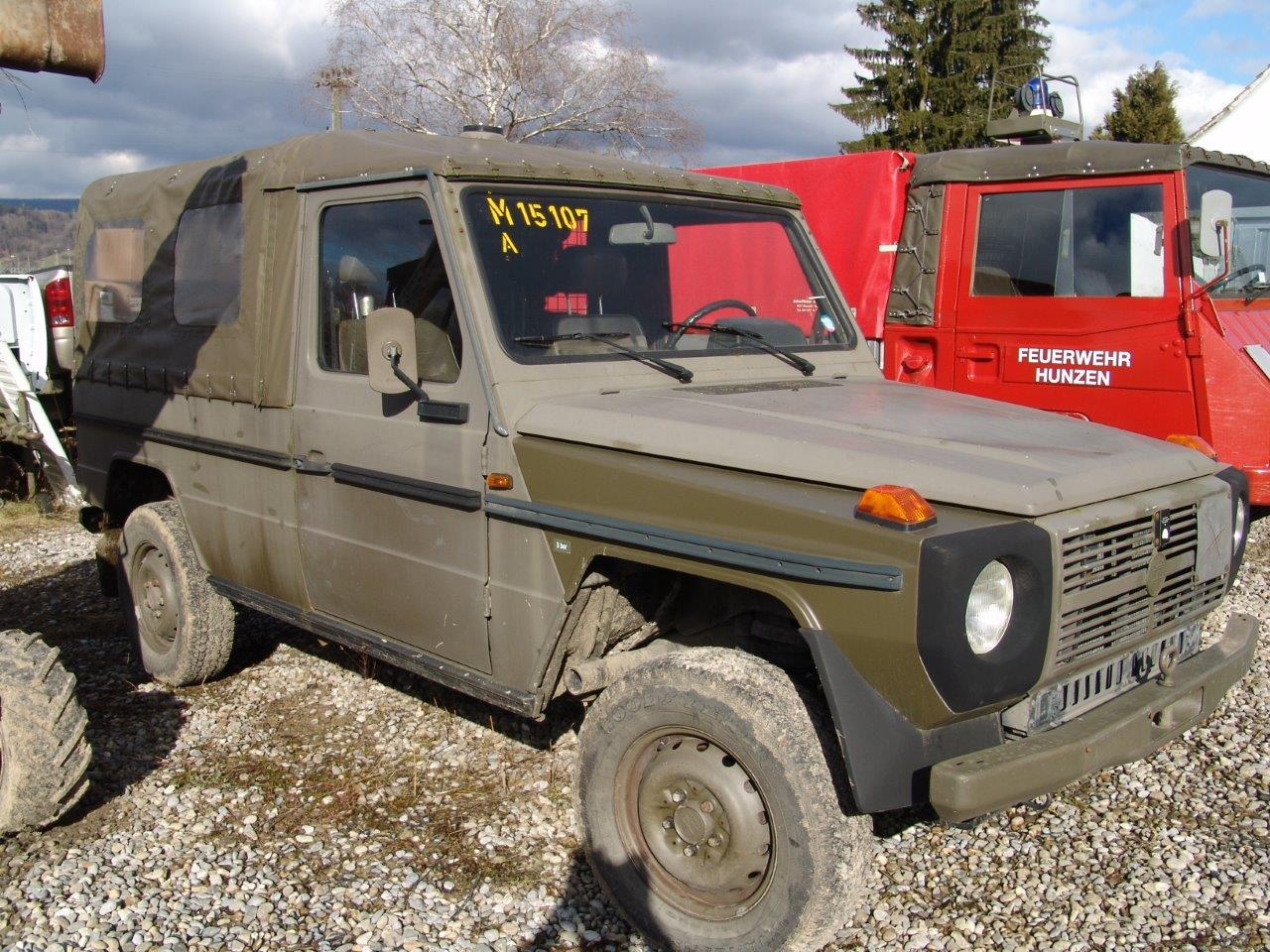 Original Swiss Army G Wagen.  2.3L 4 Cyl Gasoline  ..
