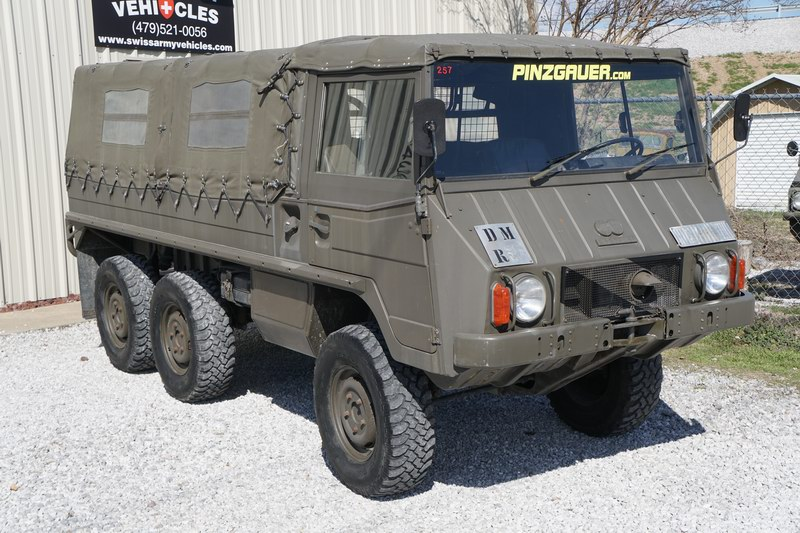 This is an original Swiss Army Troop Carrier 
