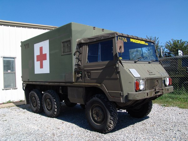 This is a Swiss Army Ambulance 