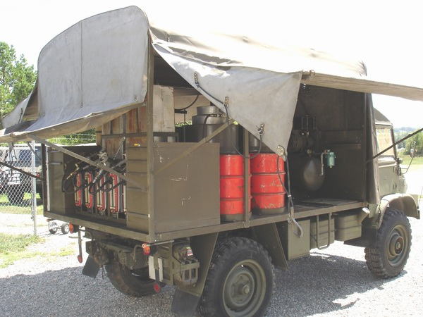 Unimog Field Service Unit, Big Air Compressor,